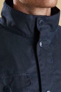 Barbour Ogston-Mens Wax Jacket-Navy-MWX0700NY51 collar