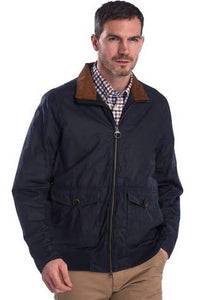 Barbour Clapton-Mens LW Wax jacket-Navy-MWX1632NY51 closed