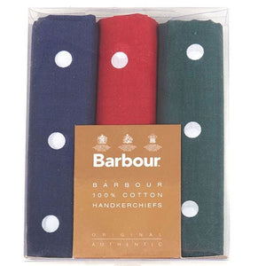 Barbour Handkerchiefs-Polka Spots-Boxed Set of Three Hankies-MAC0008MI11