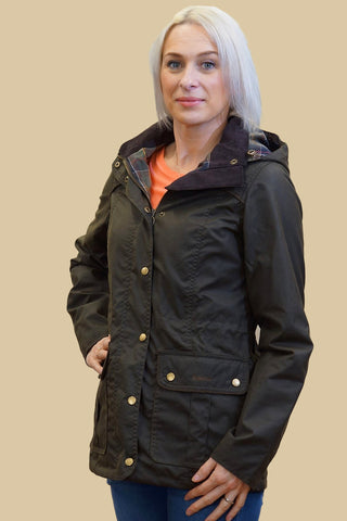 Barbour Aeonium Ladies wax jacket in Classic Olive LWX0708OL71