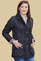 Barbour Beadnell Ladies Polarquilt Jacket - Black LQU0471BK91