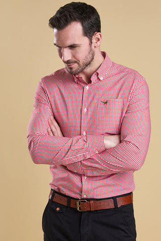 Barbour Shirt Berkshire in red gingham MSH3705RE51