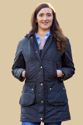 Barbour Bower ladies wax jacket in Olive LWX0534OL71