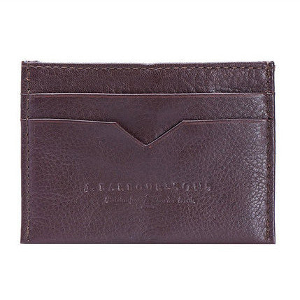 Barbour Card Holder brown leather MAC0125BR51