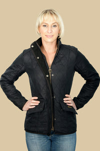 Barbour Cavalry Ladies Polarquilt Jacket in Black