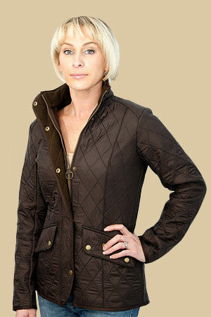 Barbour Cavalry Ladies  Polarquilt Jacket in Brown