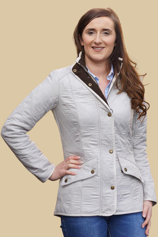 Barbour Cavalry Ladies Polarquilt Jacket in Pearl LQU0087ST31
