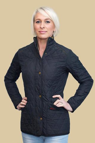 Barbour Cavalry Liddesdale Ladies Quilt Jacket in Navy