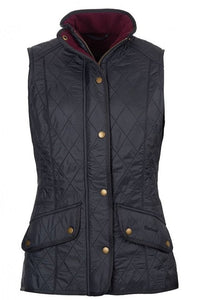 Barbour Gilet-Cavalry Ladies-Navy-LGI1001NY71  flat