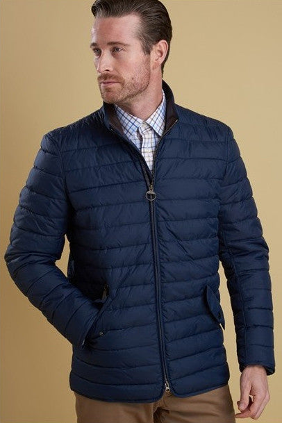 Barbour Chelsea Baffle mens quilt jacket in Navy/indigo ... : barbour mens quilted jackets - Adamdwight.com