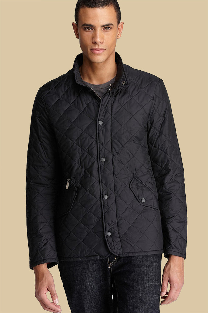 Barbour Chelsea Flyweight Black Sportsquilt Jacket