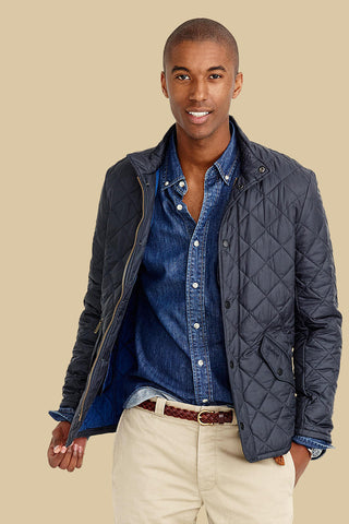 Barbour Chelsea Flyweight Navy Quilt Jacket MQU0007NY92
