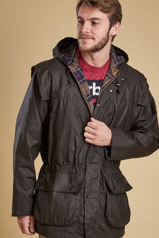 Barbour Classic Durham wax jacket in Olive MWX0011SG31