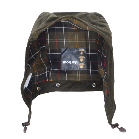 Barbour Hood in Olive Classic Sylkoil Medium Weight Wax MHO0003OL7
