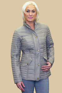 Barbour Crossrail ladies quilt in dark pearl LQU0764BE91
