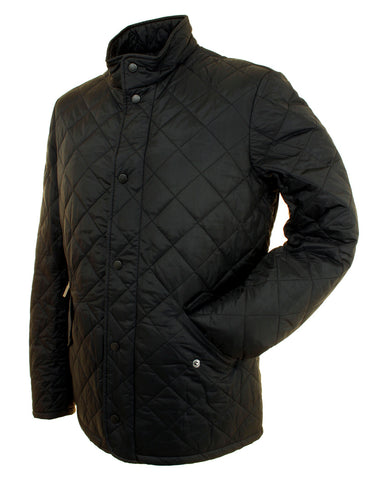 Barbour mens black Chelsea flyweight sportsquilt jacket