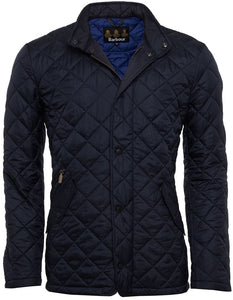 Barbour mens navy flyweight Chelsea quilt jacket