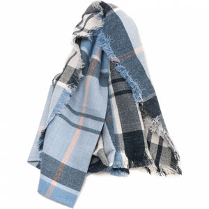 Barbour Freya Wrap-Fade Blue Tartan-LSC0146BL52 ladies