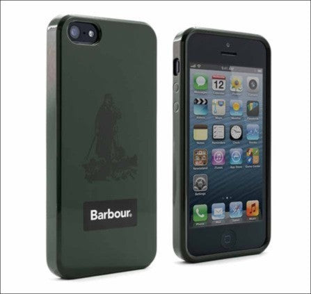 Barbour iPhone green case welly shell for iPhone 5 / 5s front and back