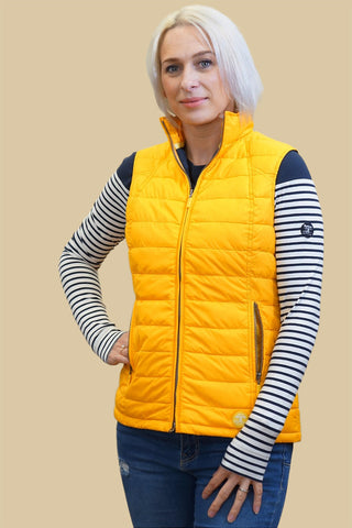 Barbour Iris gilet in Canary yellow LQU0799YE52