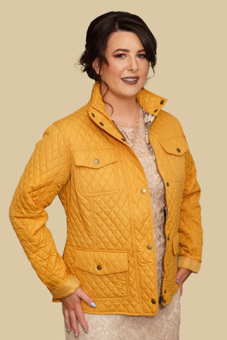 Barbour Kailzie ladies quilt in golden yellow LQU0707YE71