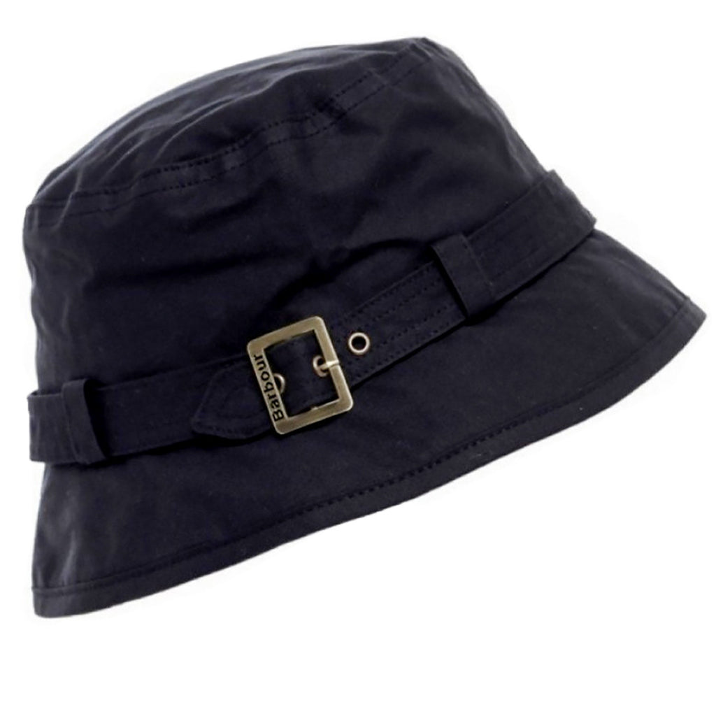 Barbour hat Kelso ladies wax belted hat in Black LHA0174BK11 ... 6e967a2dc8b