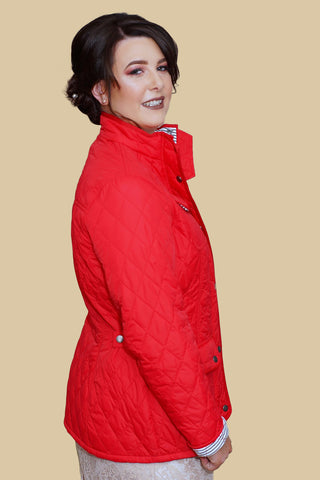Barbour Buryhead Ladies quilted jacket in red LQU0614RE31