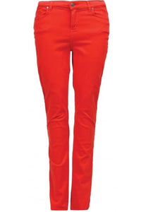 Barbour Trouser Ladies Slim skinny stretch Trouser in Orange LTR0158OR53