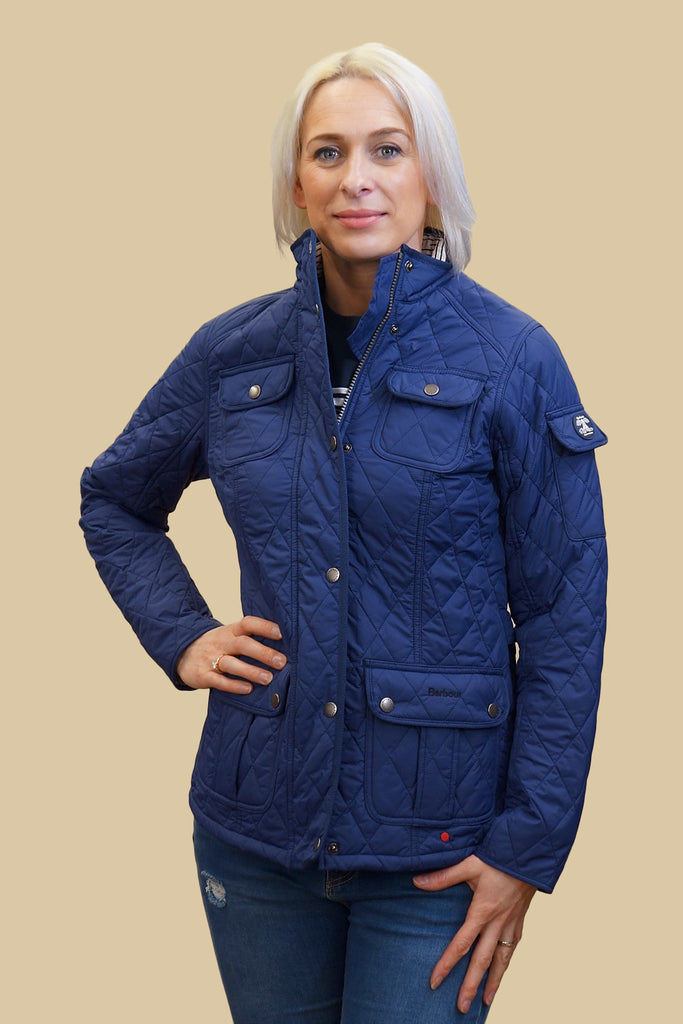 Barbour Ladies quilted jacket Buryhead in Naval Blue LQU0614BL53 ... : quilted ladies jacket - Adamdwight.com
