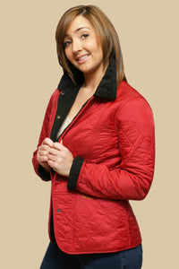 Barbour Liddesdale Ladies Polarquilt Jacket in Red LQU0363RE91