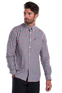 Barbour Shirt-Country Check-Tailored fit-Plum-MSH3225PU31 side