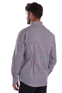 Barbour Shirt-Country Check-Tailored fit-Plum-MSH3225PU31 back