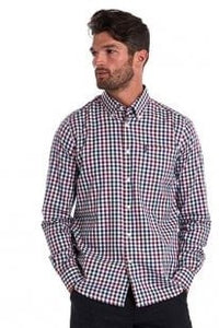 Barbour Shirt-Country Check-Tailored fit-Plum-MSH3225PU31