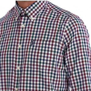 Barbour Shirt-Country Check-Tailored fit-Plum-MSH3225PU31 pattern