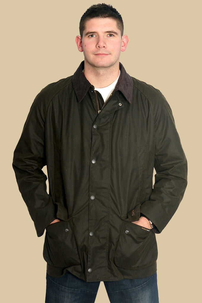 Buy Your Barbour Bristol Olive Green Mens Wax Jacket From