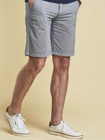 Barbour Mens Shorts Neuston Ticking in Navy stripe MTR0547NY97