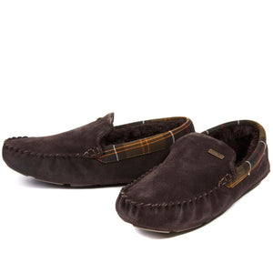Barbour Slippers-Monty Bedroom Slippers-Brown Suede-MSL0001BR51 lining