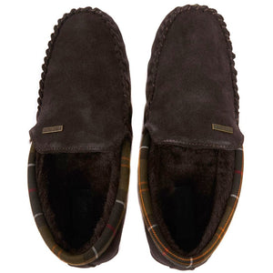 Barbour Slippers-Monty Bedroom Slippers-Brown Suede-MSL0001BR51 cosy