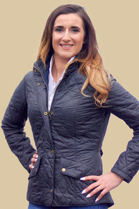 Barbour Cavalry Flyweight-Ladies Quilt Jacket-Navy-LQU0228NY91