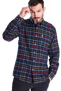 Barbour Shirt-Haldo-Super Soft Brushed Cotton-Navy Check-MSH4570NY91