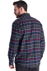 Barbour Shirt-Haldo-Super Soft Brushed Cotton-Navy Check-MSH4570NY91 back
