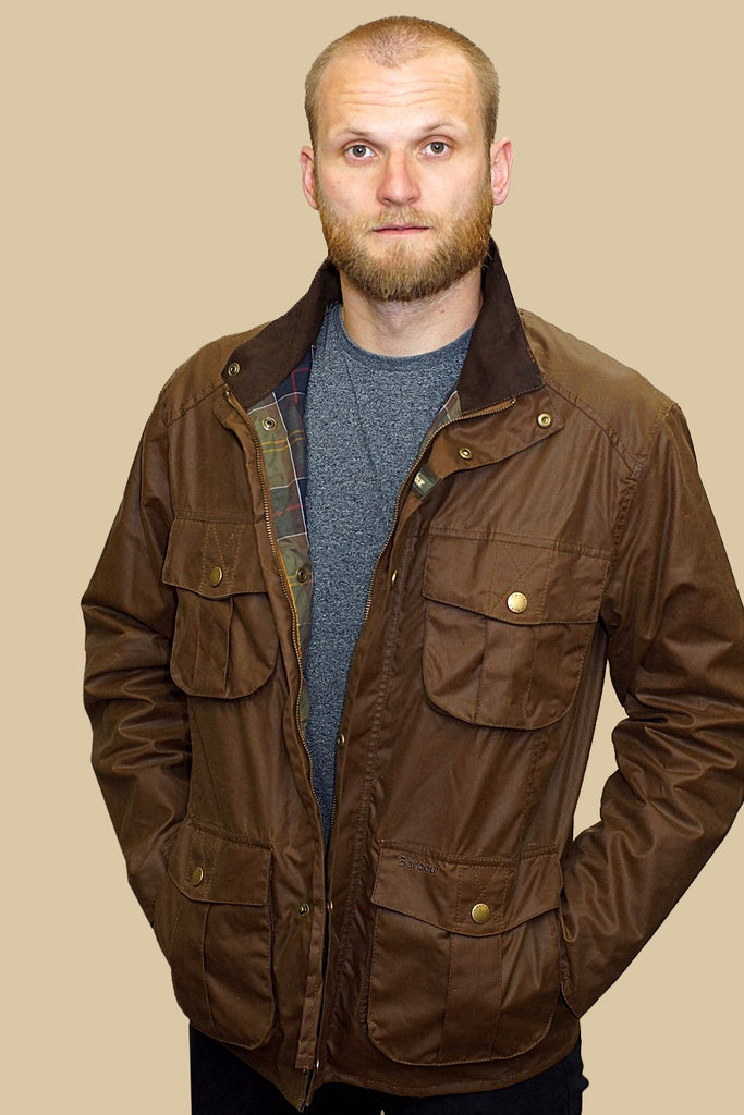 Buy Smyths Barbour New Utility Mens Wax jacket in Bark ...