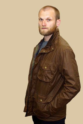 Barbour Mens Wax New Utility jacket in Bark MWX0827BR31