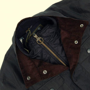 Barbour Ogston-Mens Wax Jacket-Navy-MWX0700NY51 corduroy