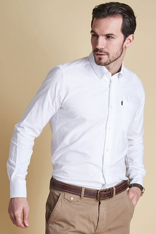 Barbour Shirt-Oxford Tailored Fit-White-MSH3230WH11