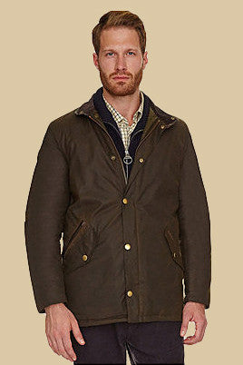 Barbour Prestbury Mens wax jacket in Olive MWX0726OL71