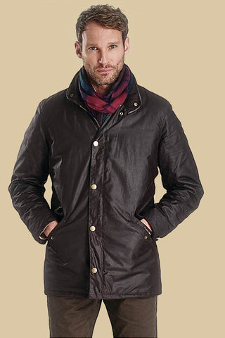 Barbour Prestbury mens Wax Jacket in Rustic Brown MWX0726RU91