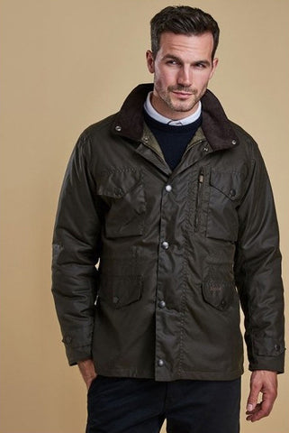 Barbour Sapper Mens Wax Jacket in Olive Green MWX0020OL71