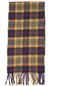 Barbour Scarf-Tartan-Lambswool-Green/Navy/Red-Check-USC0001GN31 vibrant