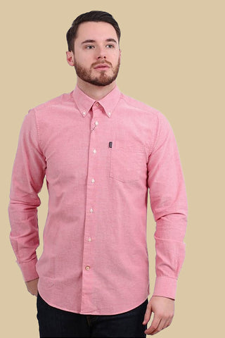Barbour Shirt Stanley Oxford tailored fit in Red/Pink MSH3332RE51